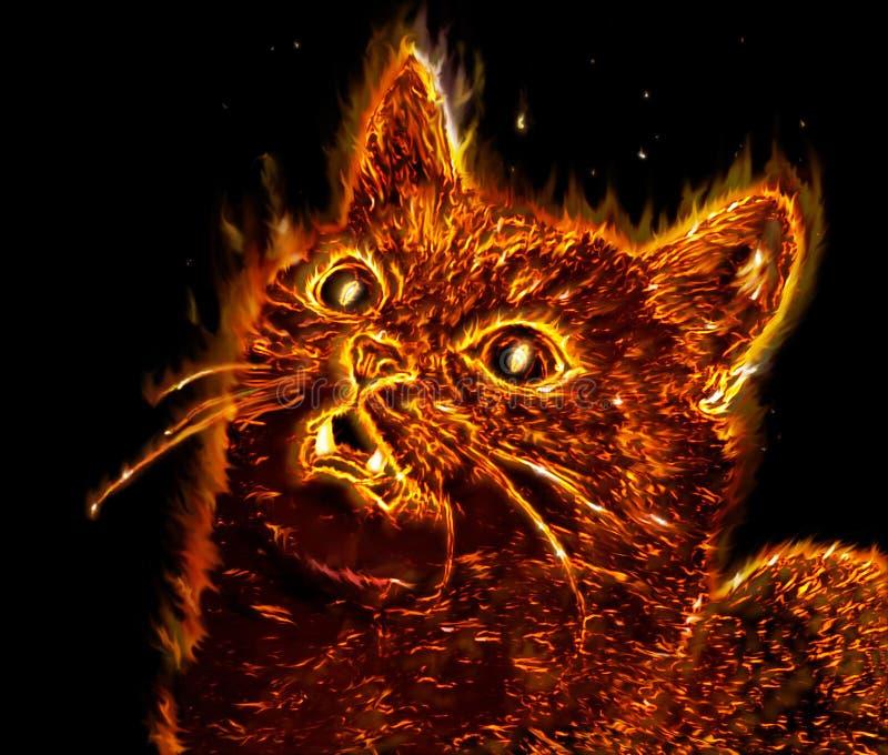 Gato Mystical ilustração stock