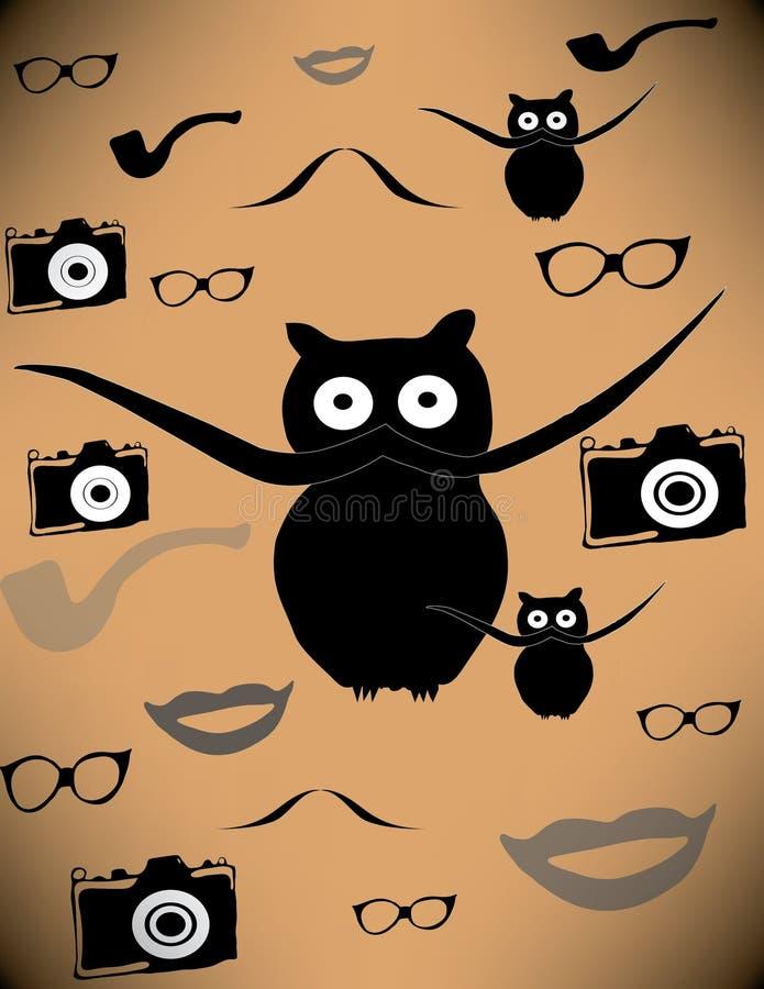 Gato negro con un bigote foto de archivo libre de regalías