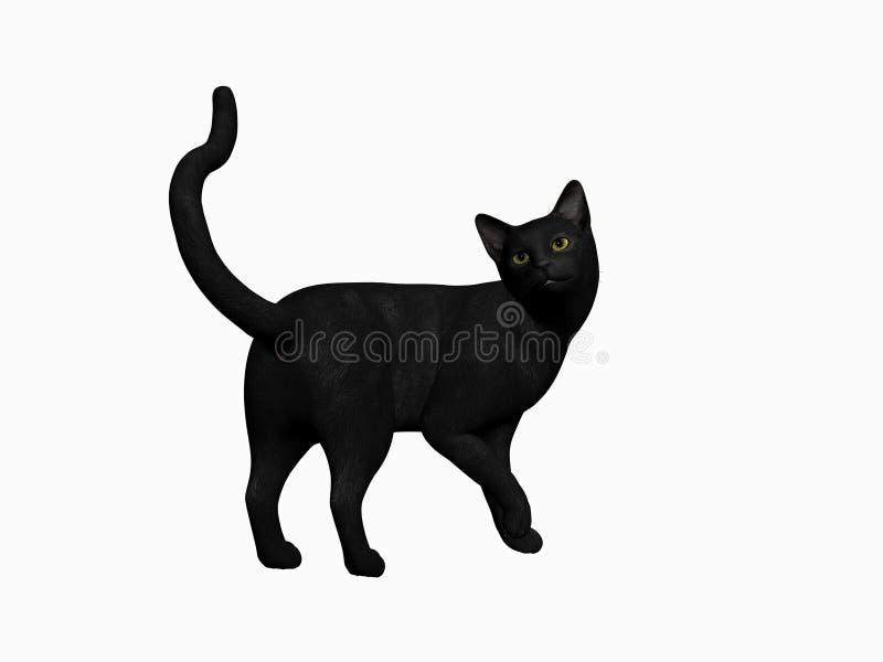 Gato negro de víspera de Todos los Santos. ilustración del vector