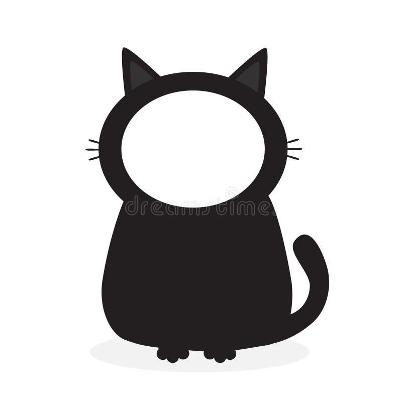 Gato Negro Del Gatito Plantilla Del Marco De La Cara Para El Pictute ...