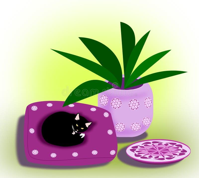 Gato No Descanso Imagem de Stock