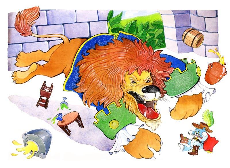 Gato nos carregadores ilustração royalty free