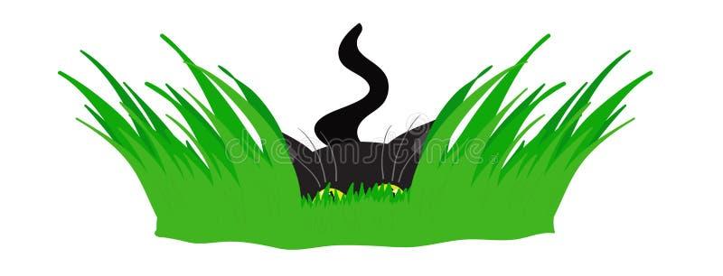 Gato numa emboscada ilustração stock