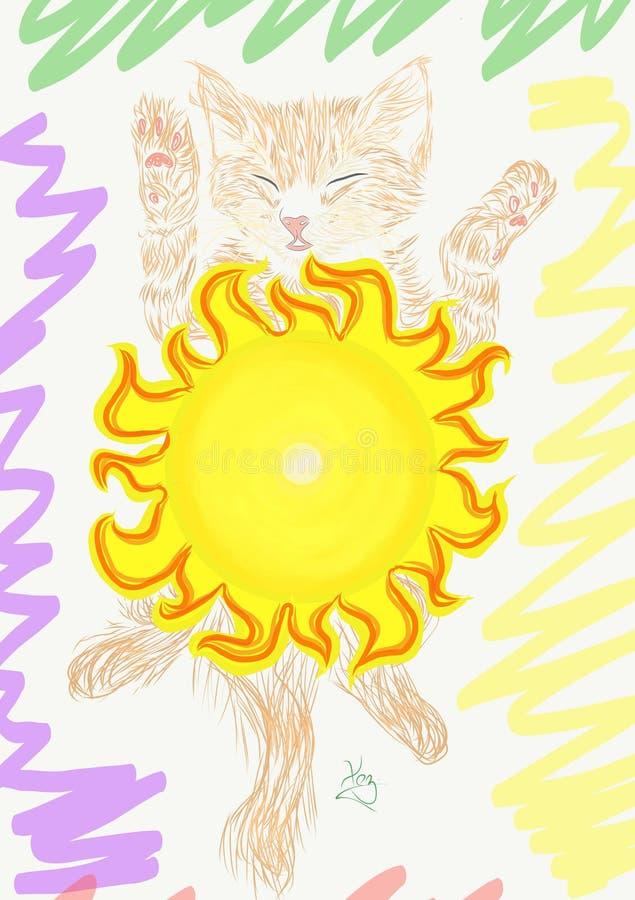gato ou sol foto de stock