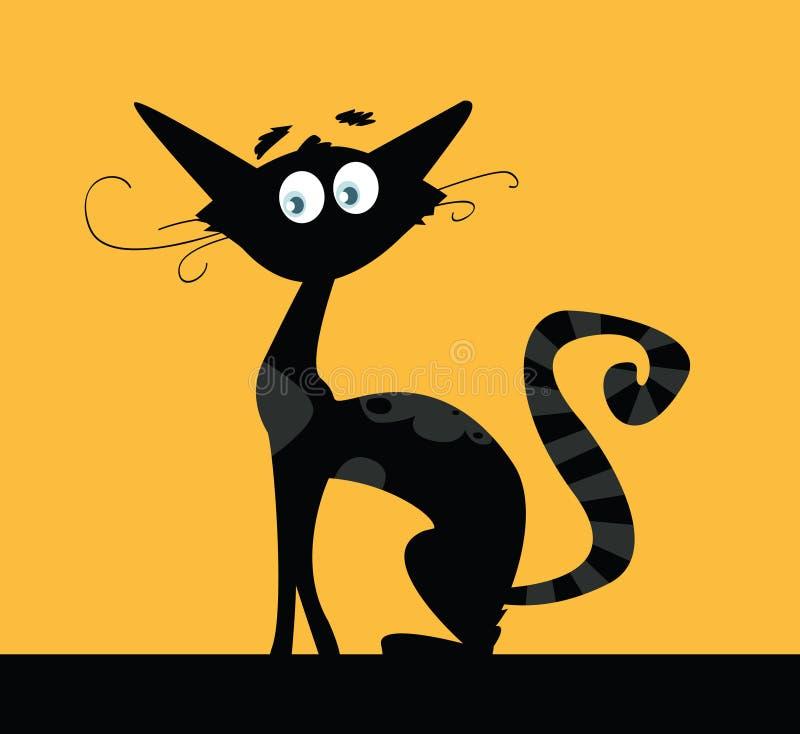 Download Gato preto ilustração do vetor. Ilustração de onda, contraste - 10050301