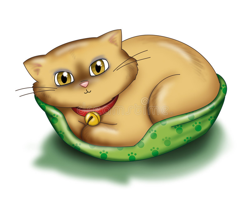 Download Gato que se relaja stock de ilustración. Ilustración de perrera - 1280580