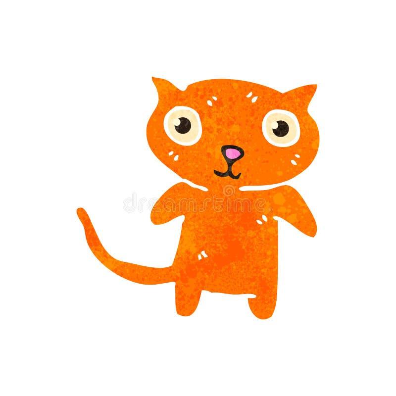 gato retro del jengibre de la historieta ilustración del vector