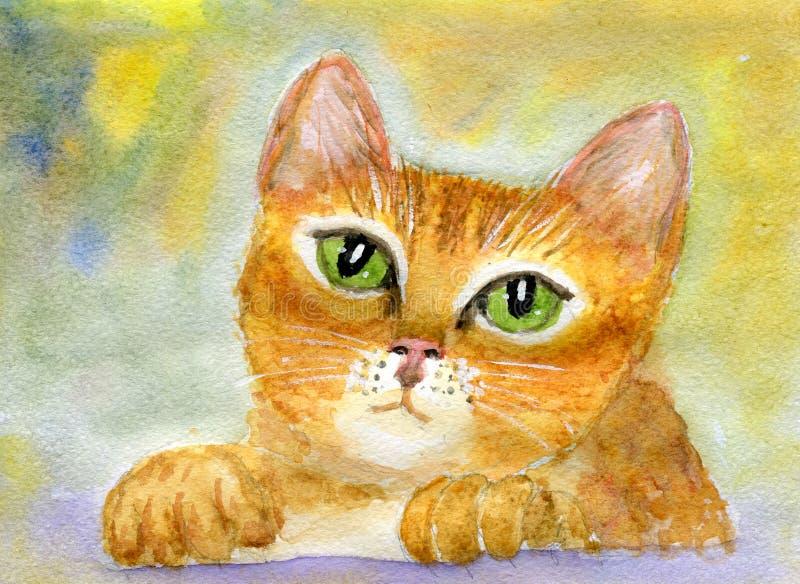 Gato rojo stock de ilustración