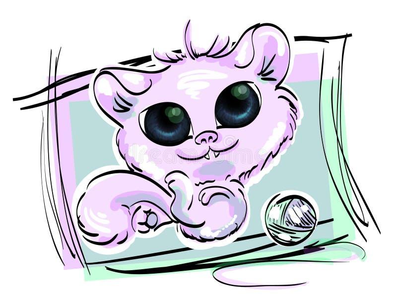 Gato roxo imagem de stock