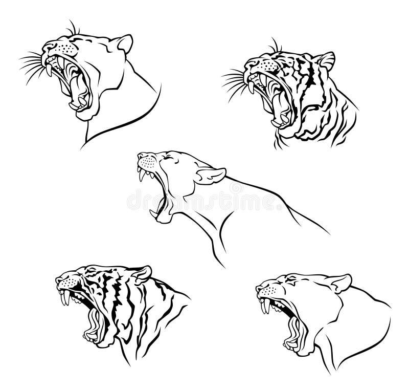 Gato salvaje stock de ilustración