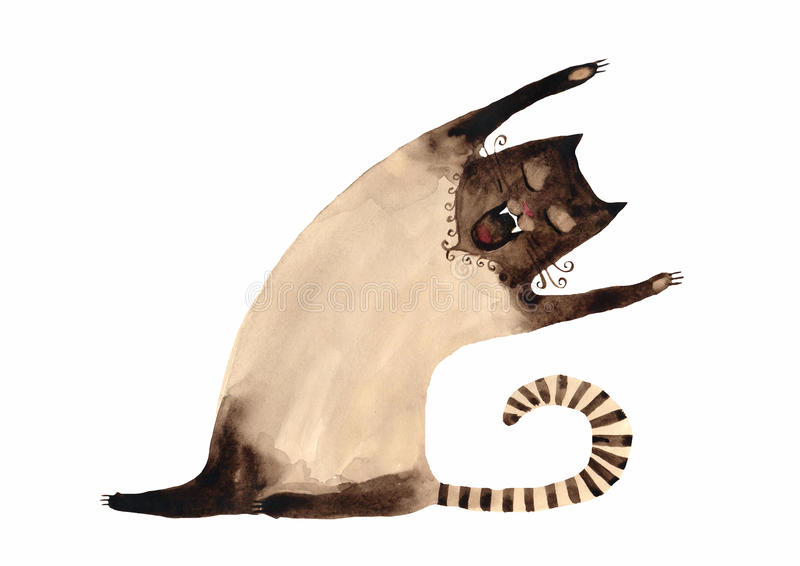 Gato Siamese ilustração stock