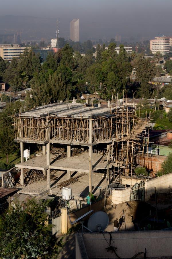 Gator av Addis Ababa royaltyfri fotografi