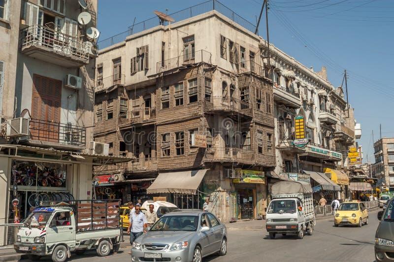 Gator av Aleppo royaltyfria bilder