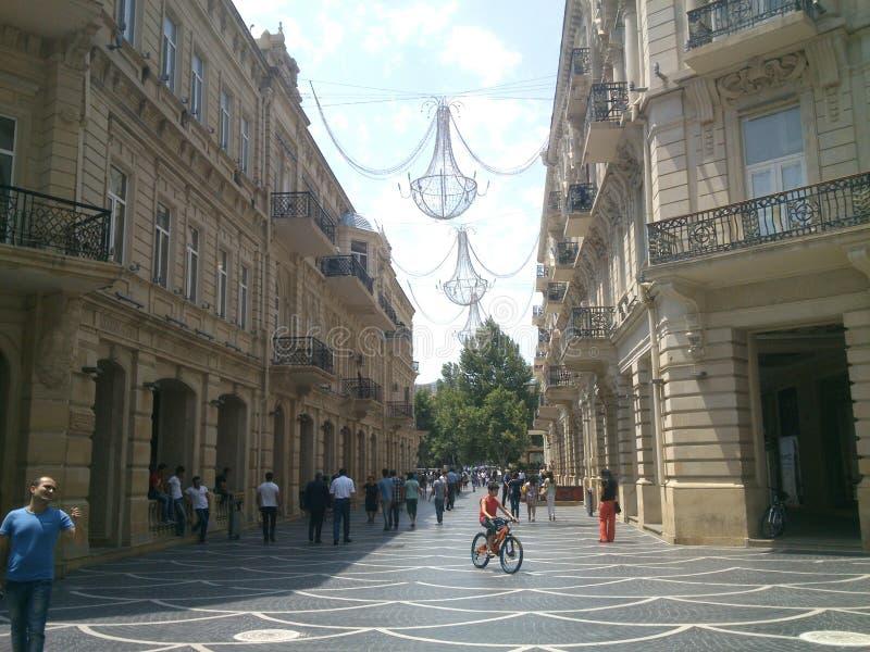 Gator av Baku royaltyfri fotografi