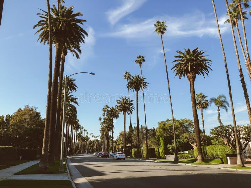 Gator av Beverly Hills, Kalifornien royaltyfri fotografi