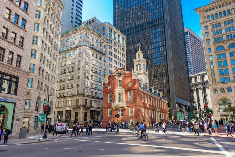 Gator av Boston arkivbilder