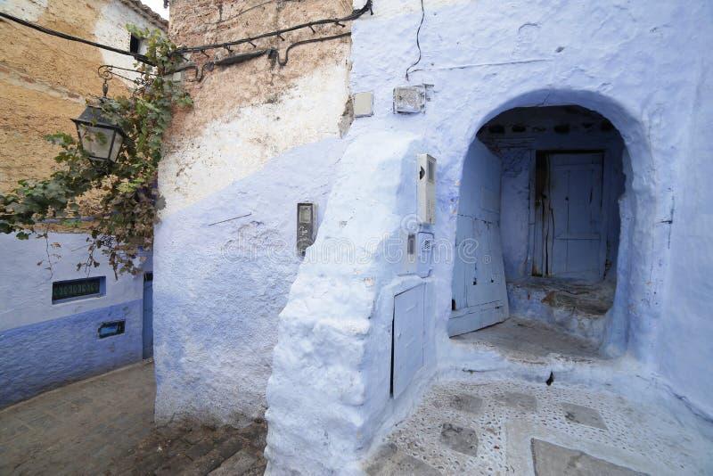 Gator av Chefchaouen Marocko arkivbild