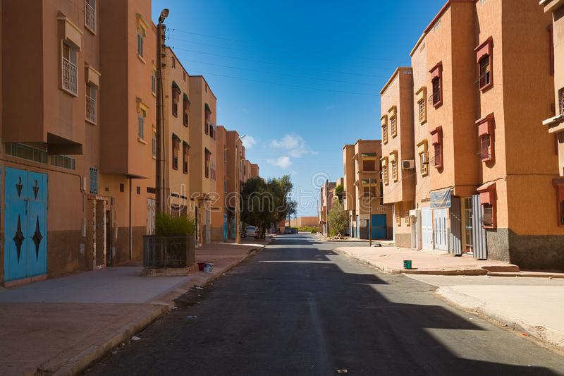 Gator av den marockanska staden Tiznit, Marocko 2017 royaltyfri bild