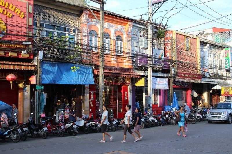 Gator av den Phuket staden arkivbild