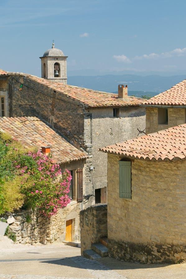 Gator av den provencal townen royaltyfri fotografi