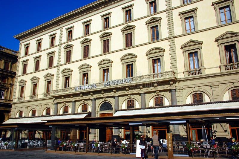 Gator av den stora renässansstaden av Florence arkivbilder