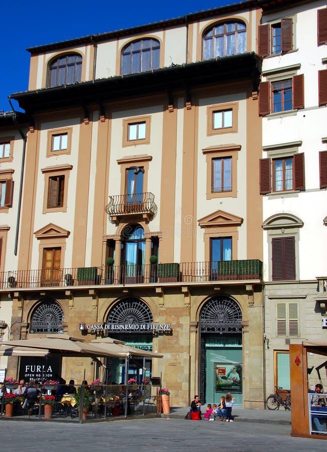 Gator av den stora renässansstaden av Florence royaltyfri fotografi