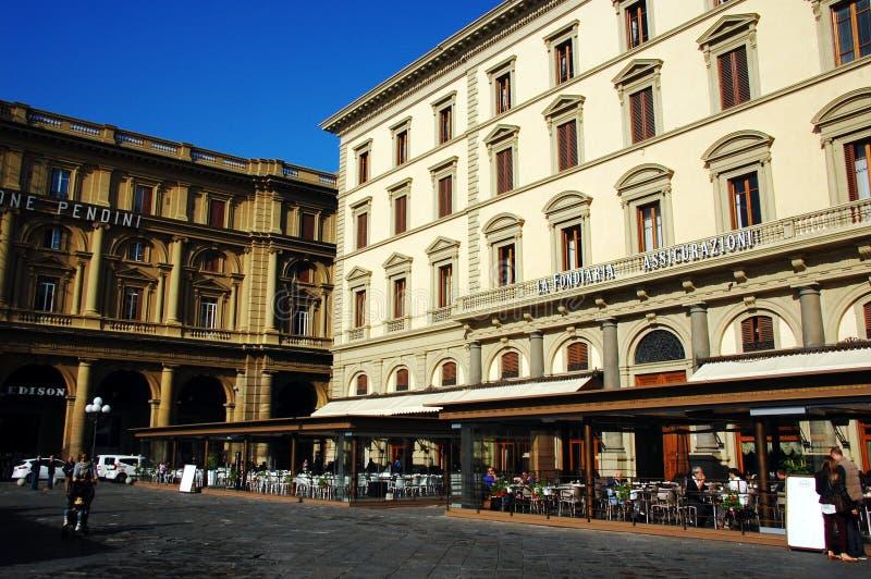 Gator av den stora renässansstaden av Florence royaltyfria bilder