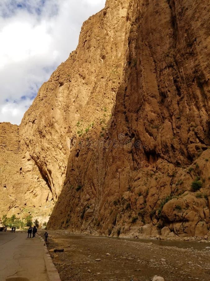 Gator av den Todgha klyftan, Marocko arkivfoton