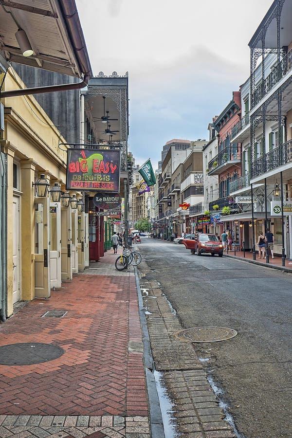 Gator av New Orleans royaltyfri foto