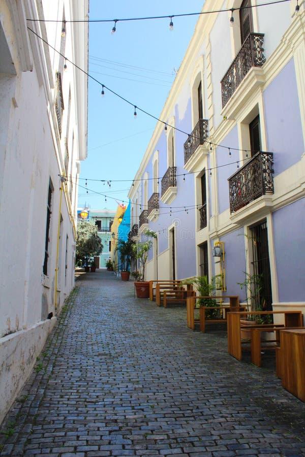 Gator av San Juan Puerto Rico royaltyfria bilder