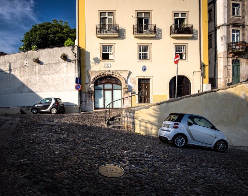 Gator av staden av Coimbra portugal arkivfoton