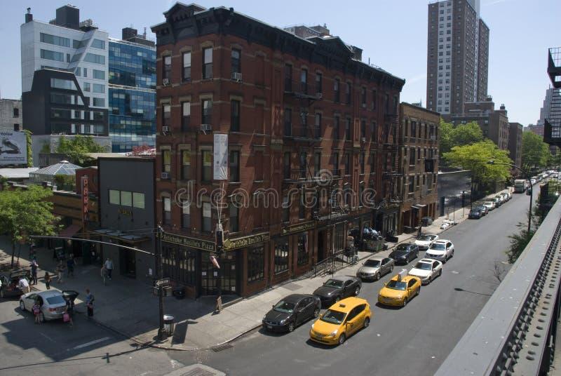 Gator av Tribeca i New York City, Manhattan royaltyfria bilder
