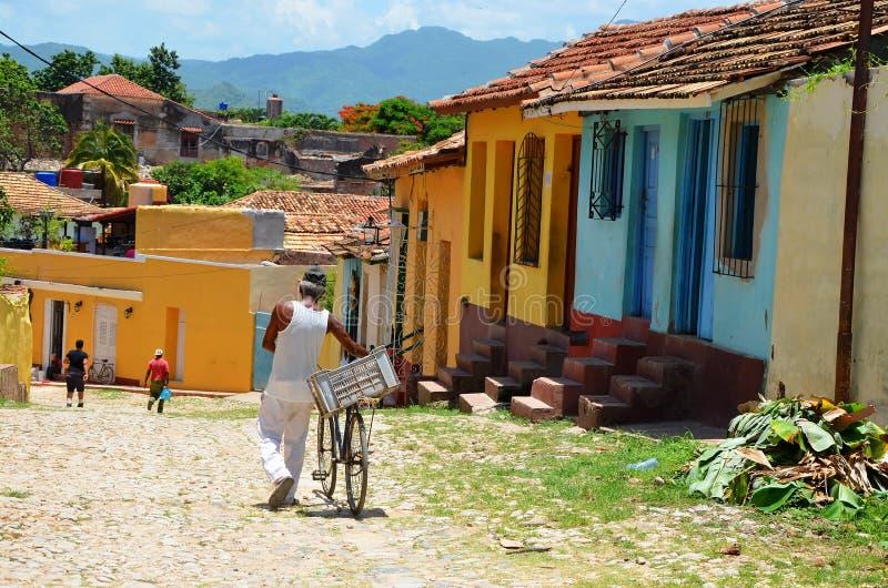 Gator av Trinidad, Kuba royaltyfria bilder