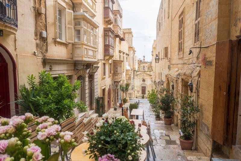 Gator av Valletta arkivbild