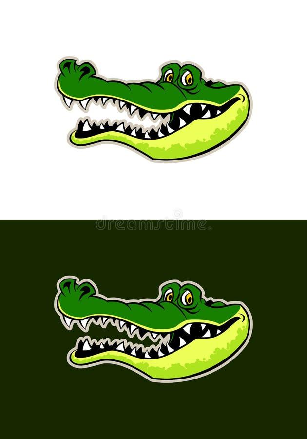 Gator hoofdsticker stock illustratie