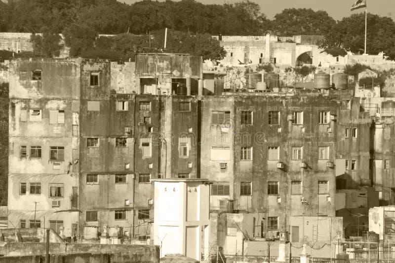 Gator i Havana City, den verkliga Kuban arkivfoto
