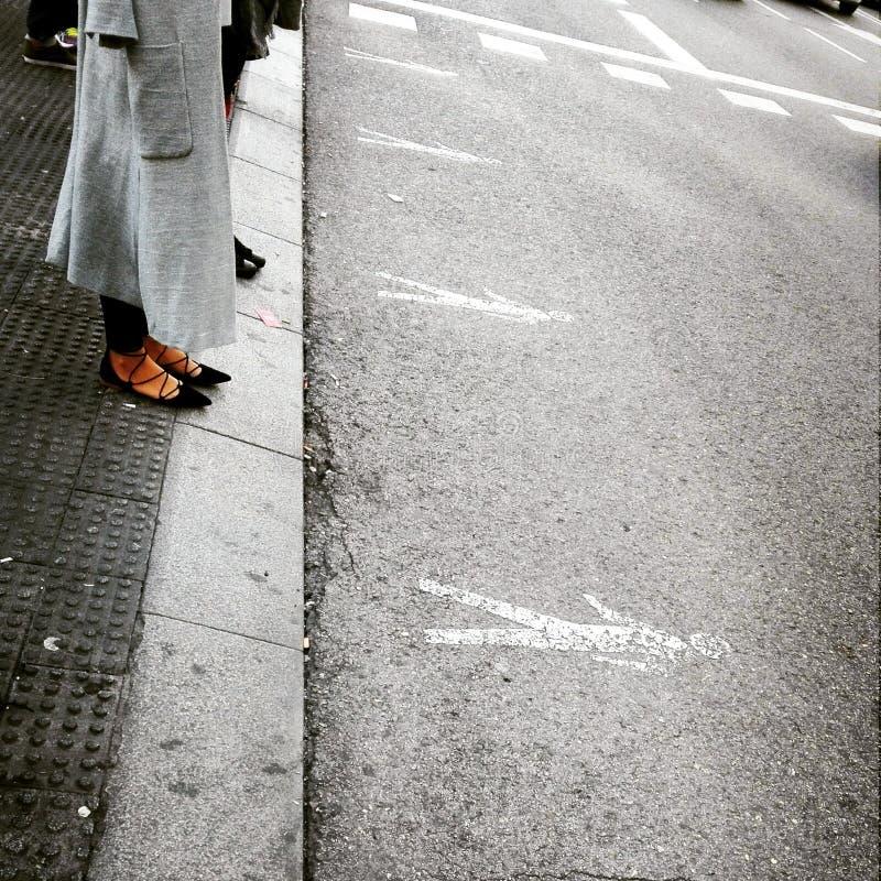 Gator i Madrid royaltyfria bilder
