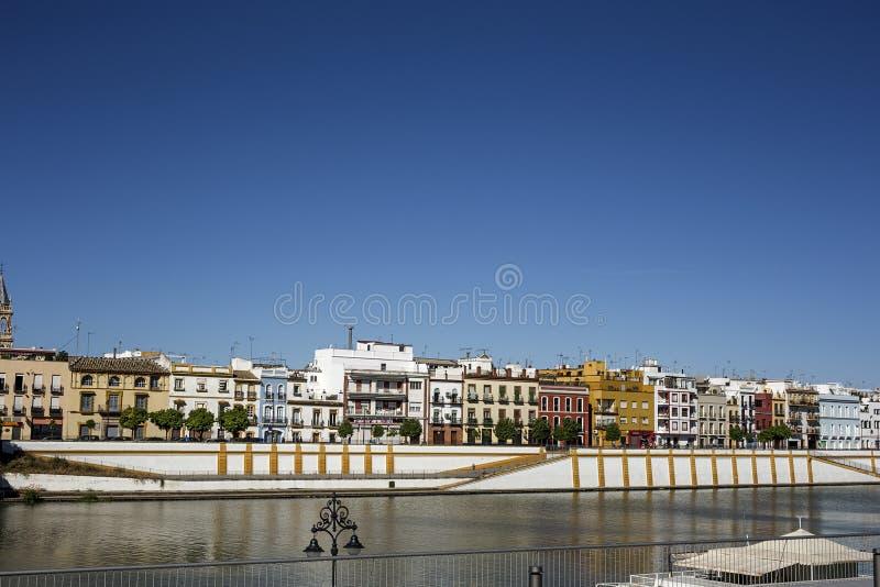 Gator och hörn av Seville _ spain royaltyfri fotografi