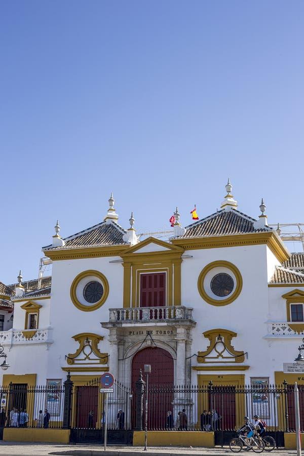 Gator och hörn av Seville _ spain arkivbilder