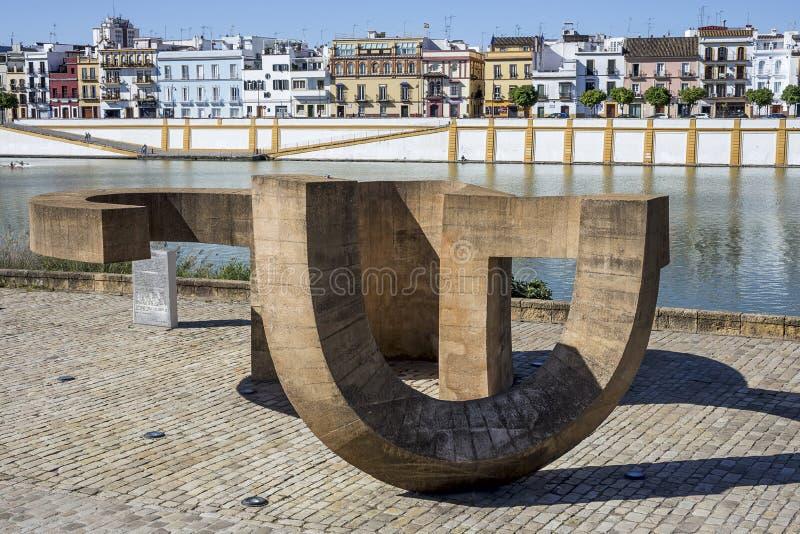 Gator och hörn av Seville _ spain arkivfoto