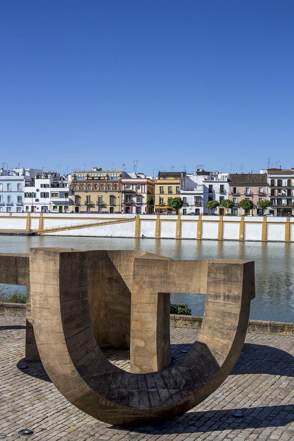 Gator och hörn av Seville _ spain royaltyfri bild