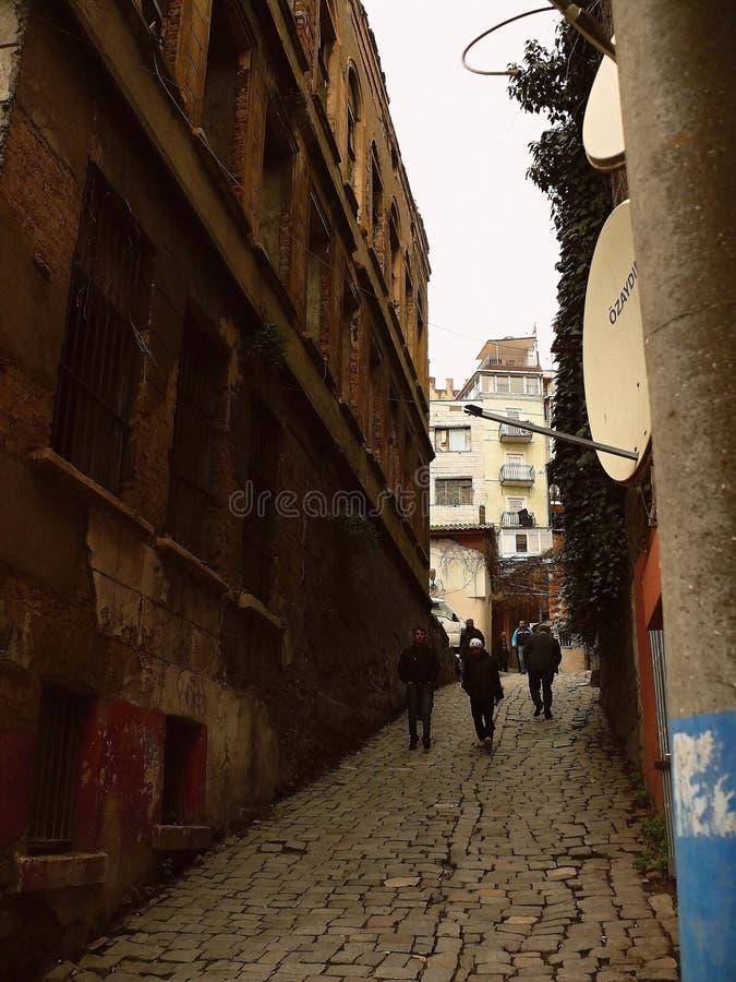 gator och i staden arkivfoton