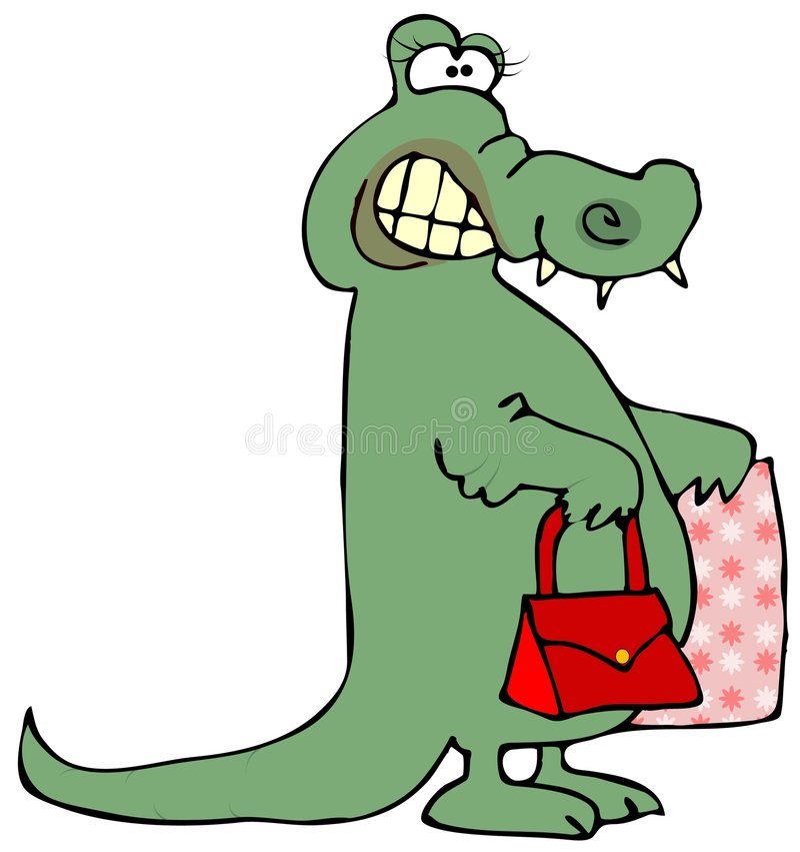 Download Gator Shopping stock illustration. Image of purse, lizard - 5273869