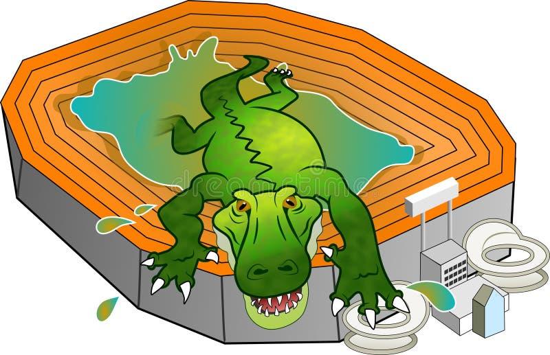 Download Gator Stadion stock abbildung. Illustration von graphiken - 41683