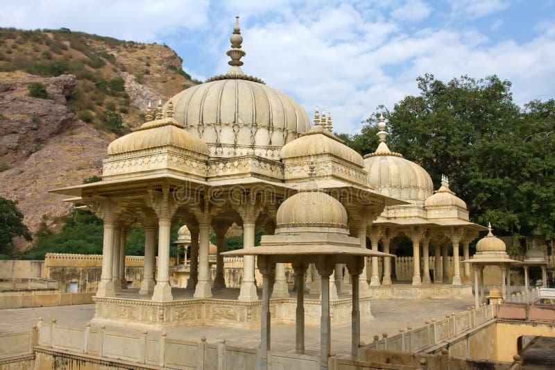 Gatore Ki Chhatriyan, Jaipur, Ràjasthàn, Inde. images stock