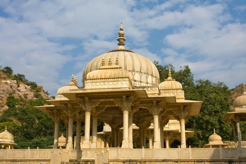 Gatore Ki Chhatriyan, Jaipur, Ràjasthàn, Inde. photographie stock libre de droits
