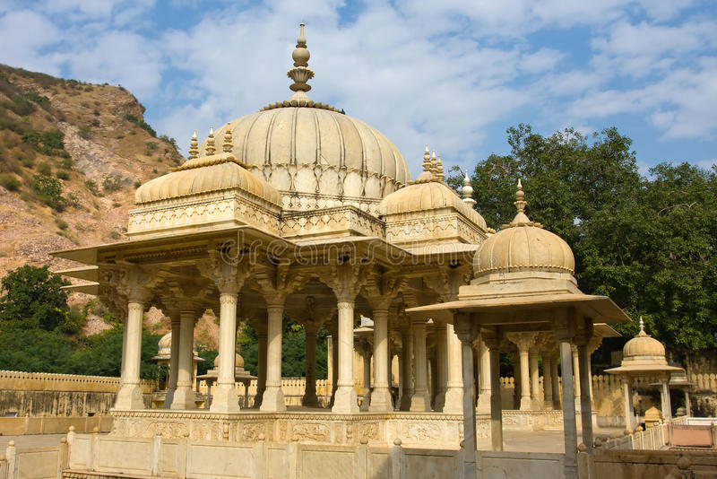 Gatore Ki Chhatriyan, Jaipur, Ràjasthàn, Inde photographie stock