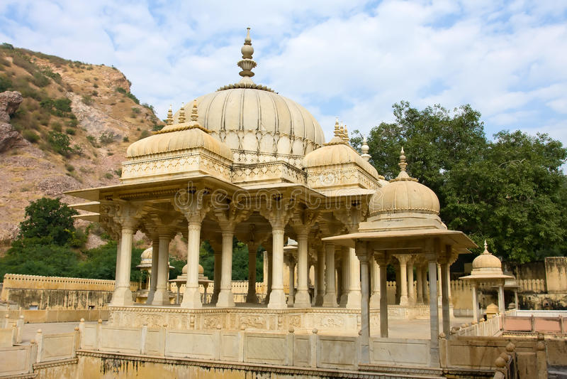Gatore Ki Chhatriyan, Jaipur, Ràjasthàn, Inde images stock