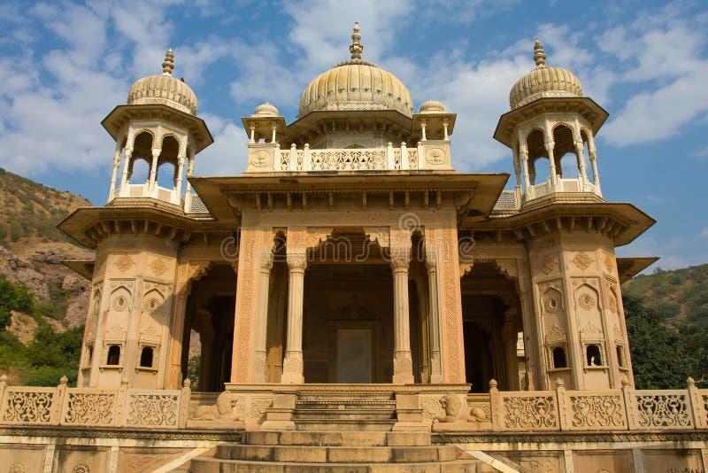 Gatore Ki Chhatriyan, Jaipur, Rajasthan, Indien. royaltyfri bild