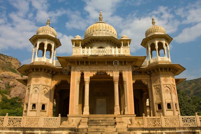 Gatore Ki Chhatriyan, Jaipur, Rajasthan, Indien. fotografering för bildbyråer